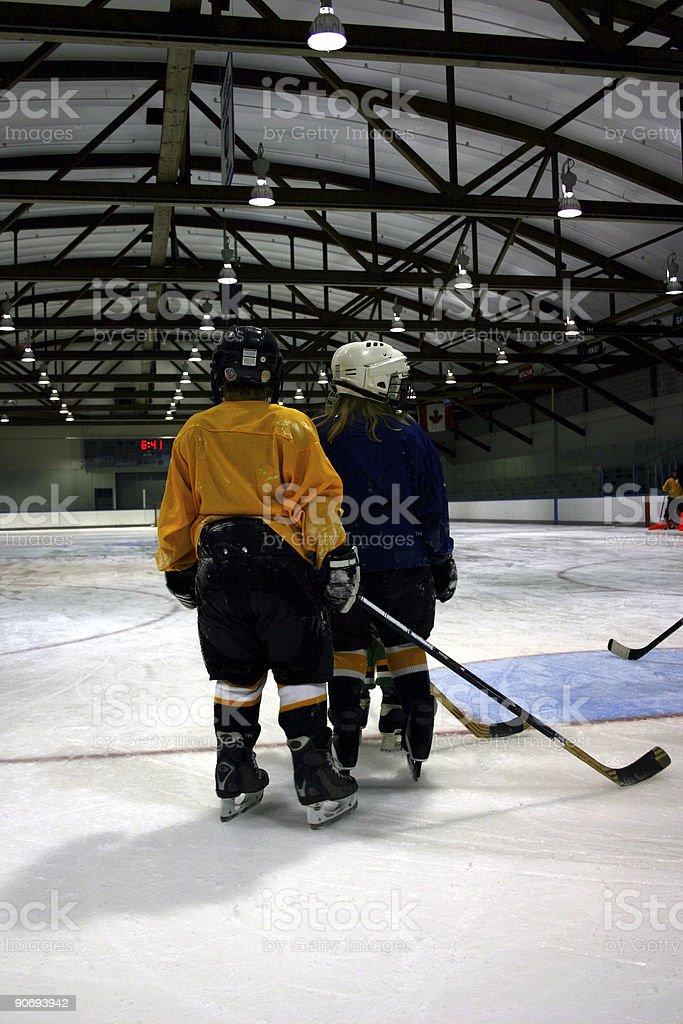 youth hockey stock photo