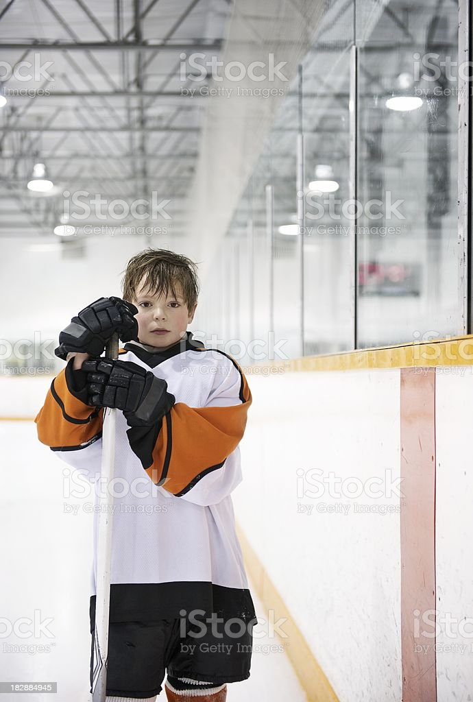 Youth Hockey Player royalty-free stock photo