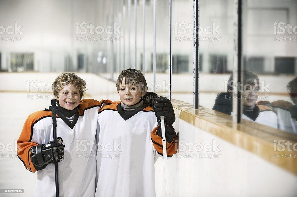 Youth Hockey Players royalty-free stock photo