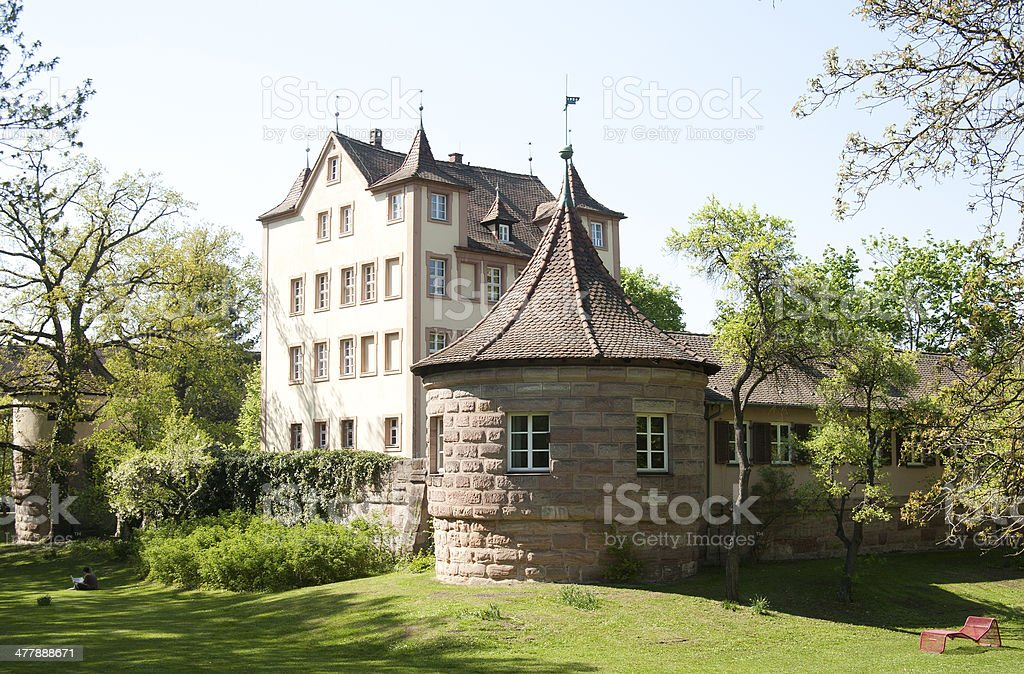 youth hostel in nuremberg ancient castle royalty-free stock photo