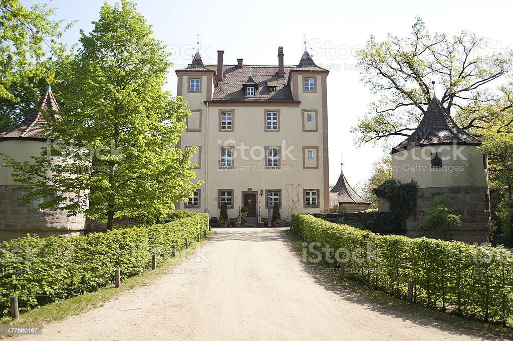 youth hostel in nuremberg - Auffahrt zu Herrenhaus royalty-free stock photo