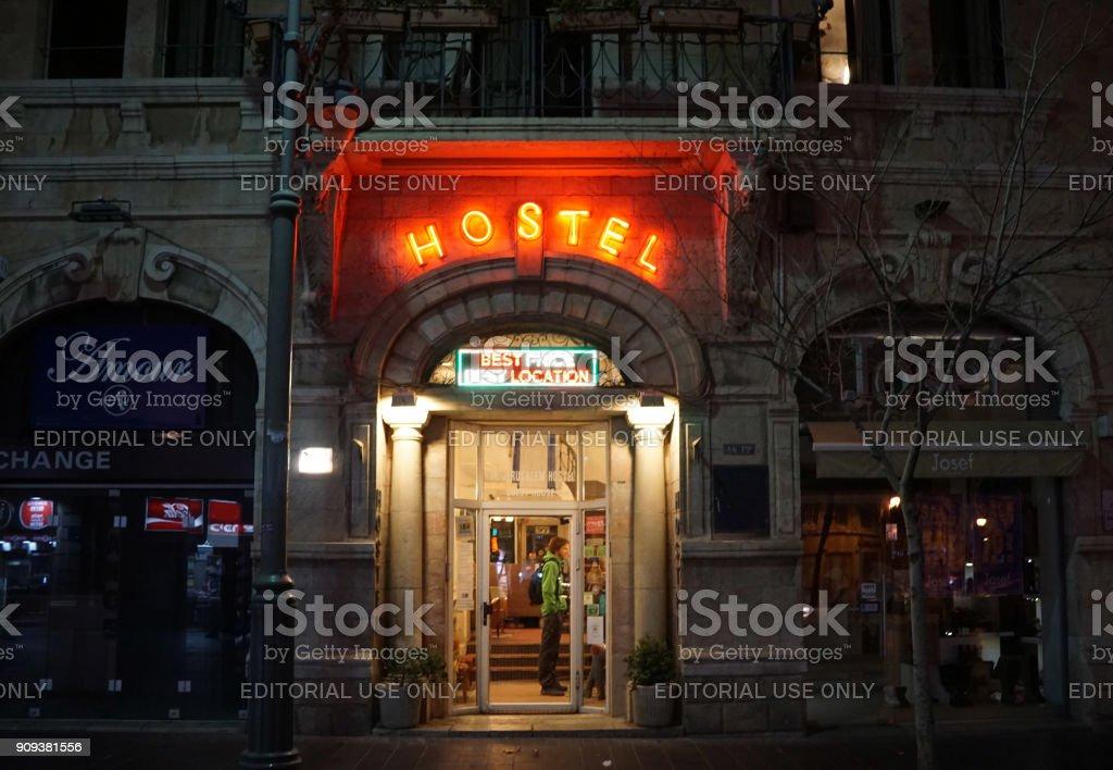 youth hostel stock photo
