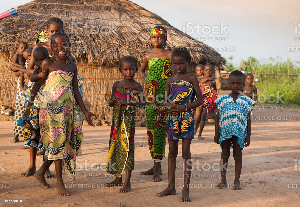 Youth in nigerian village stock photo