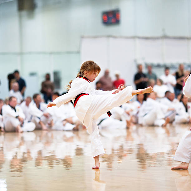 Youth Karate Competition stock photo