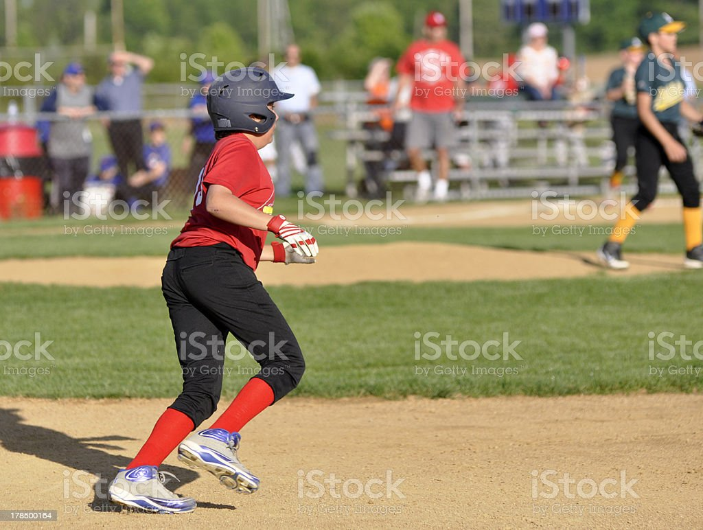 youth league base runner royalty-free stock photo