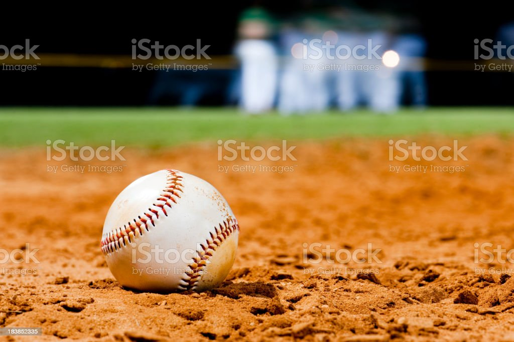 Youth League Baseball Close Up with Team royalty-free stock photo