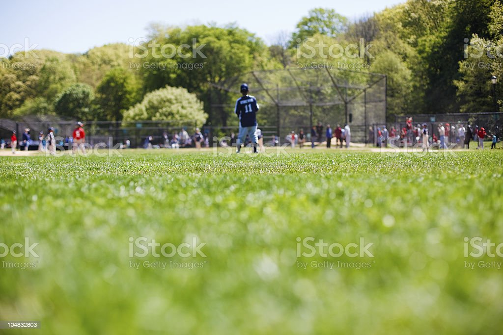 Youth league baseball stock photo