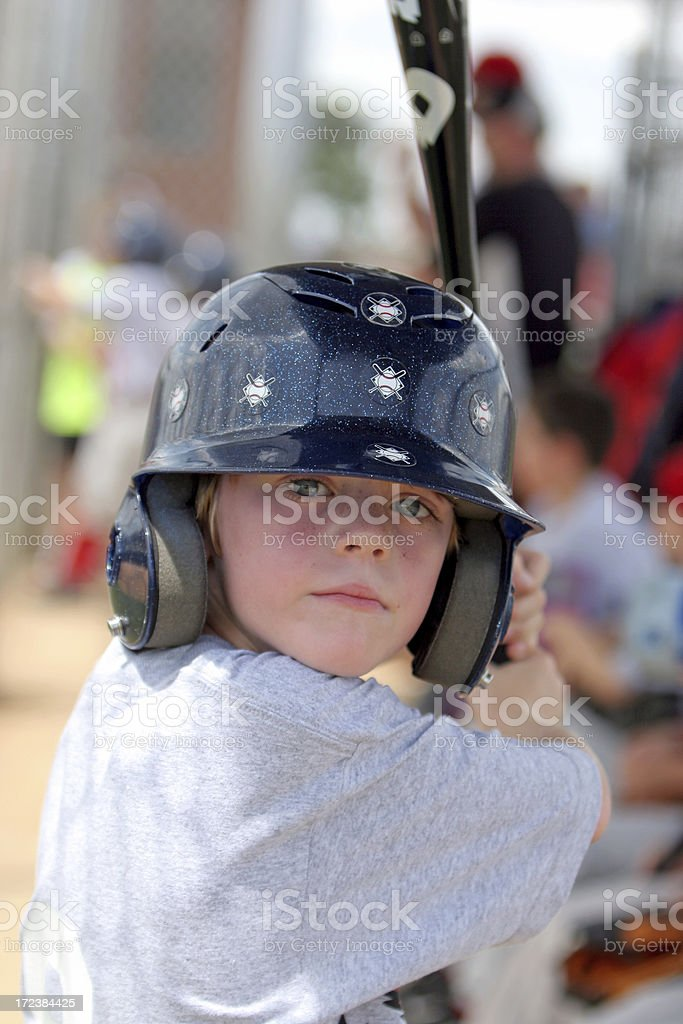 Youth League Baseball Player royalty-free stock photo