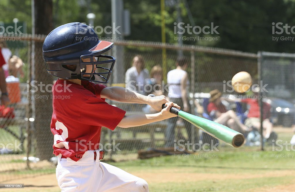 Youth League Batter royalty-free stock photo