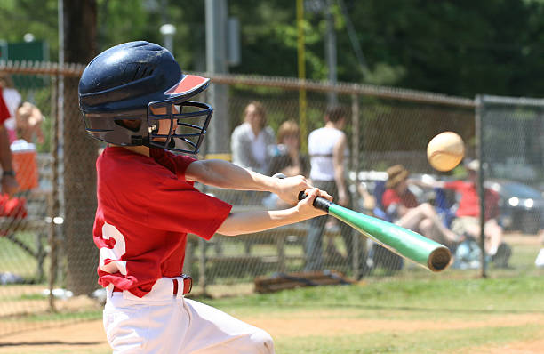 Youth League Batter stock photo