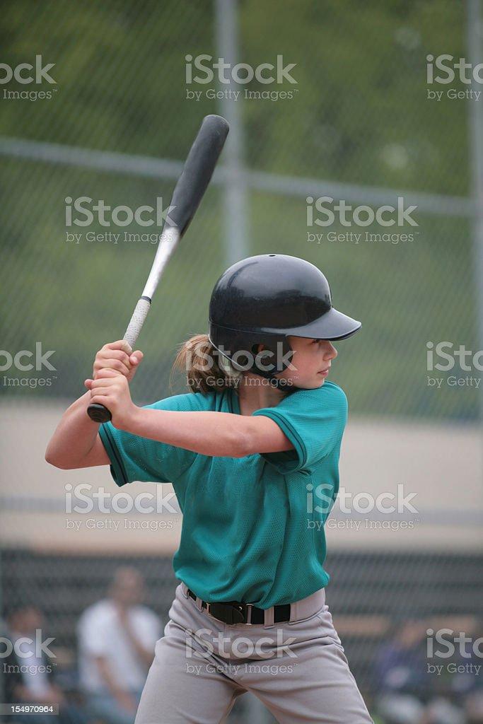 Youth League Batter up at Bat stock photo