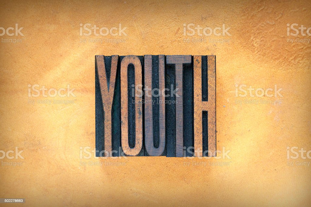 Youth Letterpress stock photo