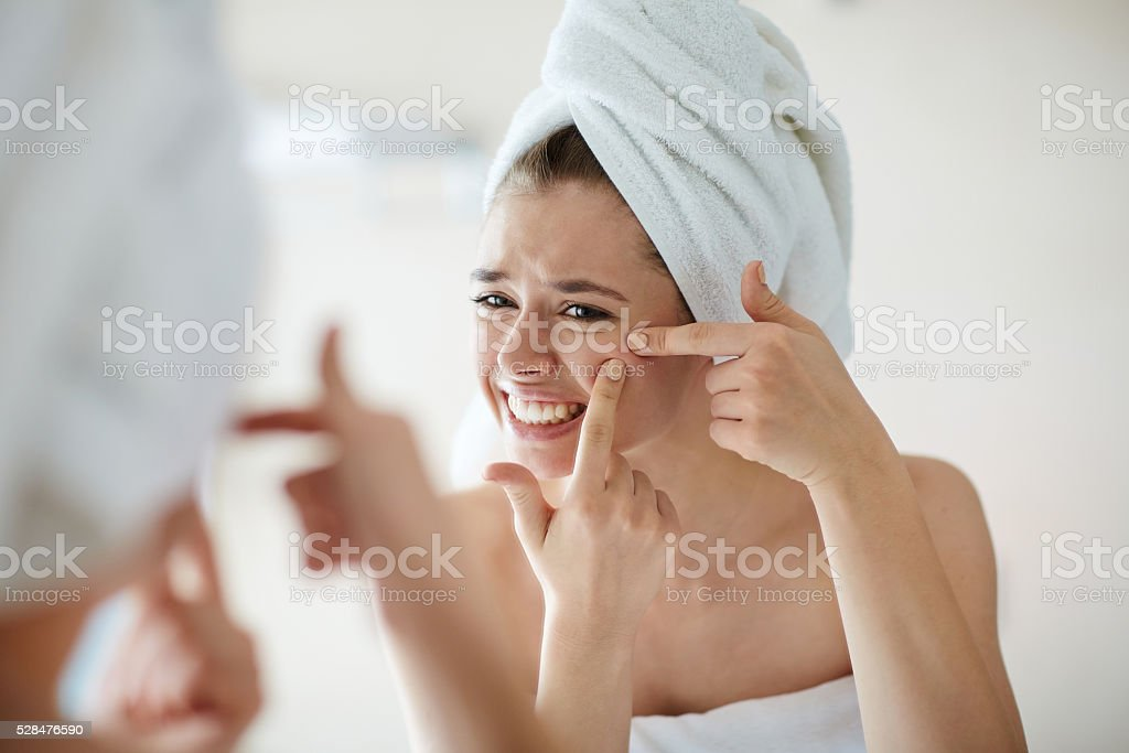 Youth problems - Royalty-free Acne Stock Photo