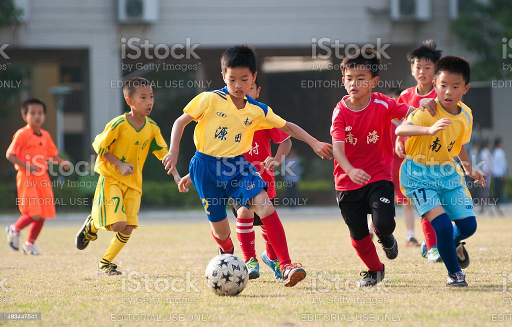 Youth Soccer stock photo