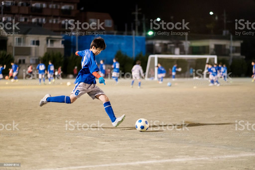 Youth Soccer Player in Tokyo Japan royalty-free stock photo