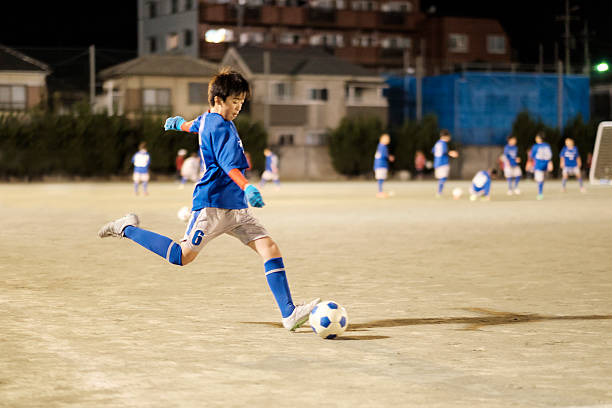 Youth Soccer Player in Tokyo Japan stock photo