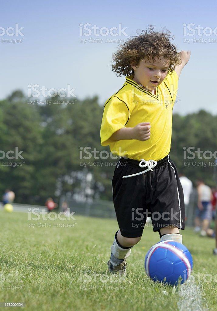 Youth soccer skills royalty-free stock photo