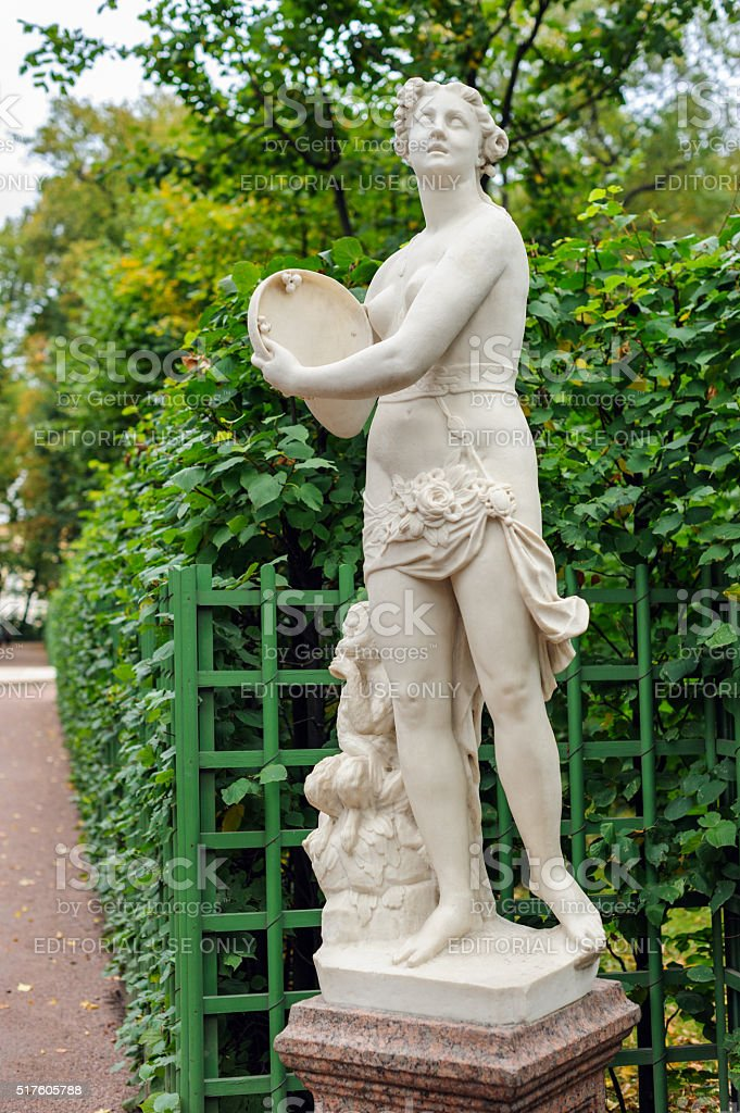 Youth statue in the Summer Garden stock photo