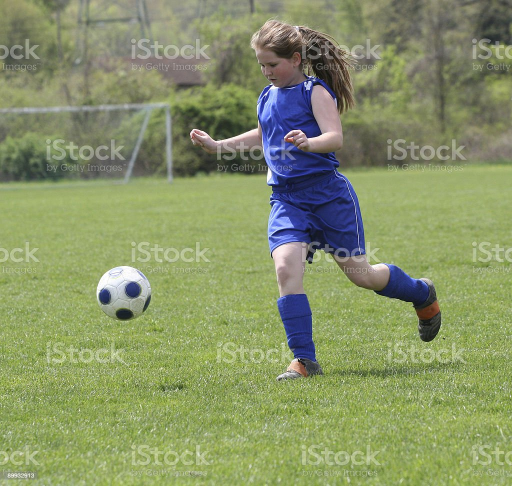 Youth Teen Girl Soccer Action royalty-free stock photo