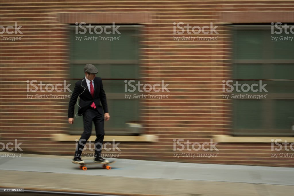 Youthful businessman stock photo