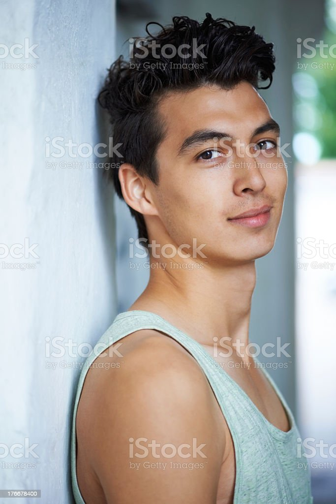 Youthful good looks royalty-free stock photo