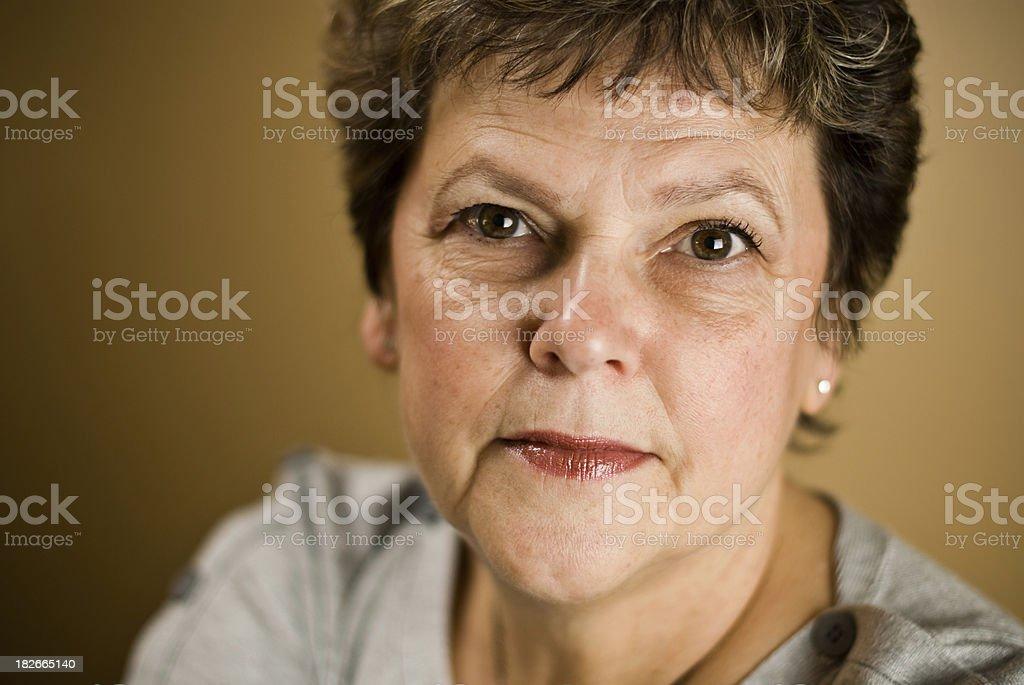 Youthful grandmother royalty-free stock photo