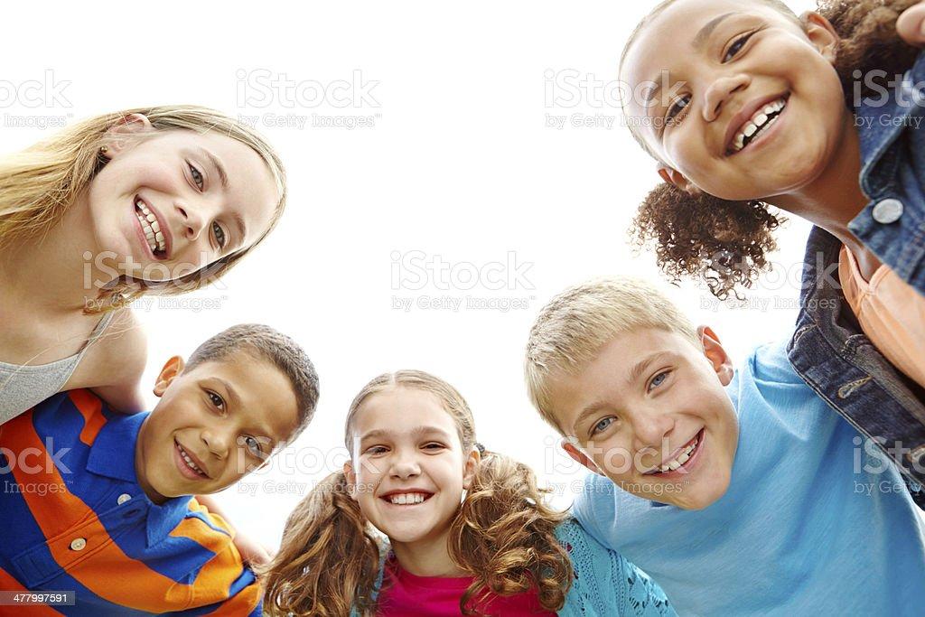 Youthful joy stock photo