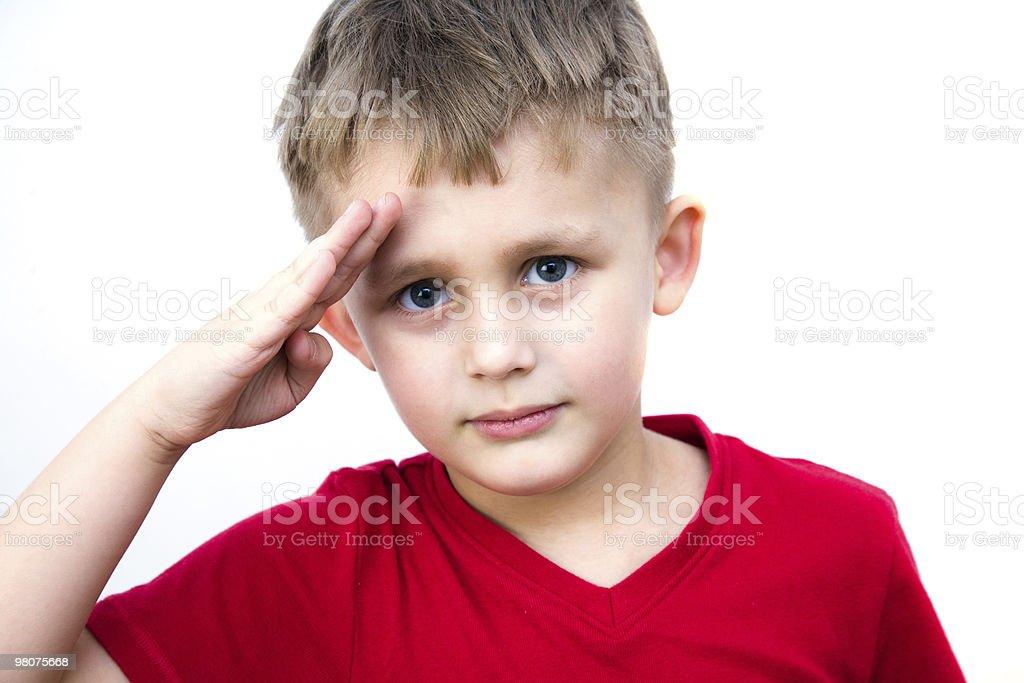 Giovane soldato foto stock royalty-free