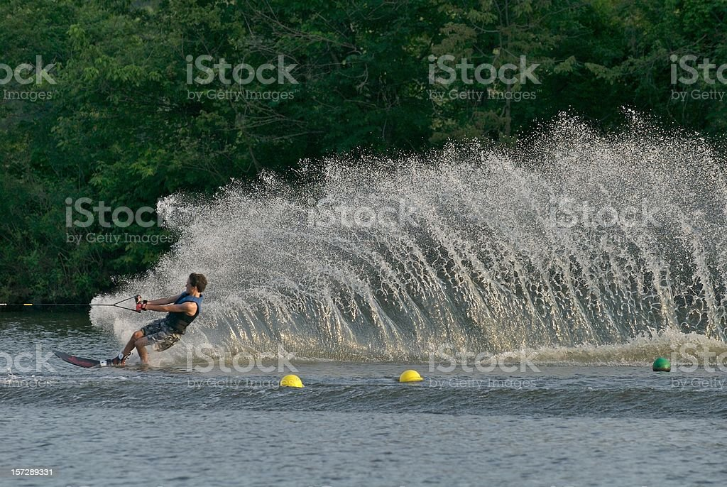 Youthful Waterskier royalty-free stock photo