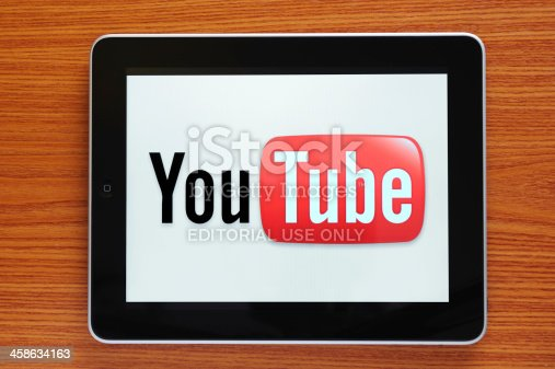 Astanbul, Turkey - October 30, 2011: Apple iPad displaying Youtube logo. YouTube is a video-sharing website, created by three former PayPal employees, on which users can upload, view and share videos. The iPad, the digital tablet with multi touch screen produced by Apple Computer, Inc.