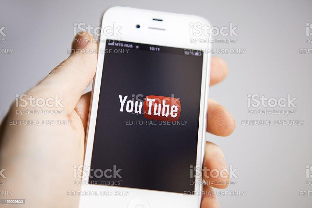 YouTube royalty-free stock photo