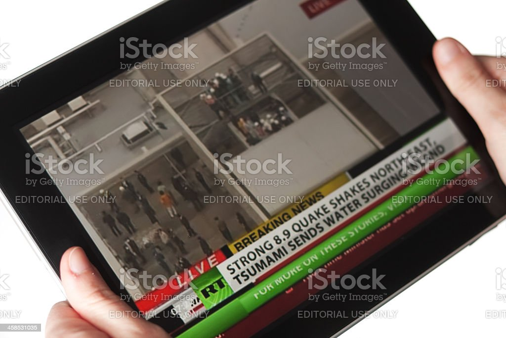 Youtube Video About The Earthquake In Japan March 2011 Stock Photo