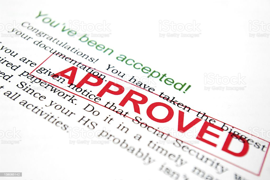 You've been accepted royalty-free stock photo
