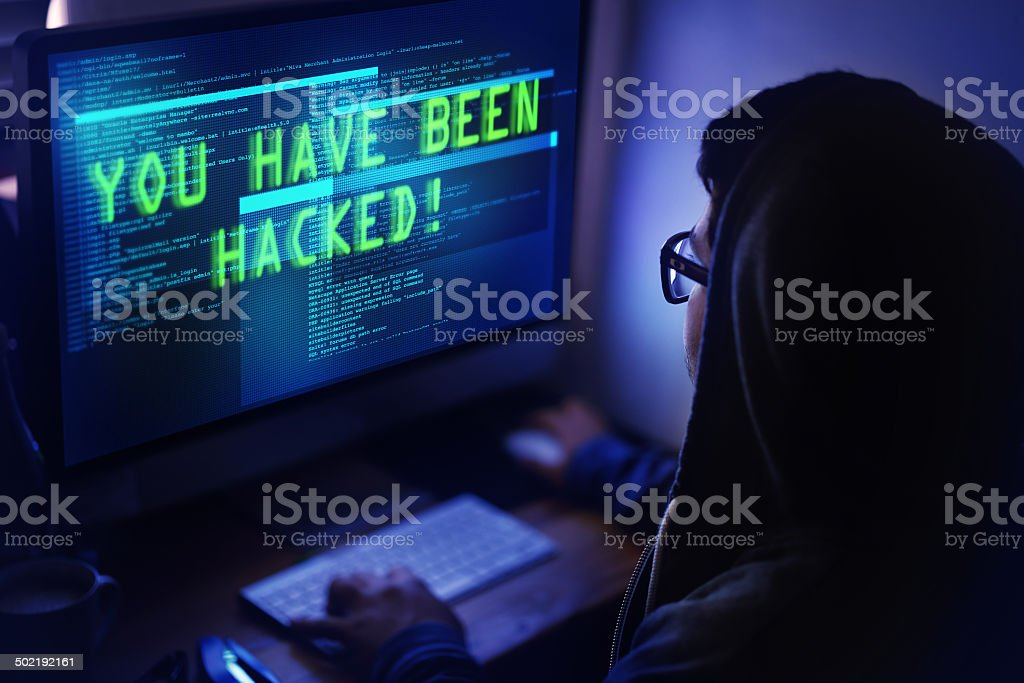 You've been hacked! stock photo