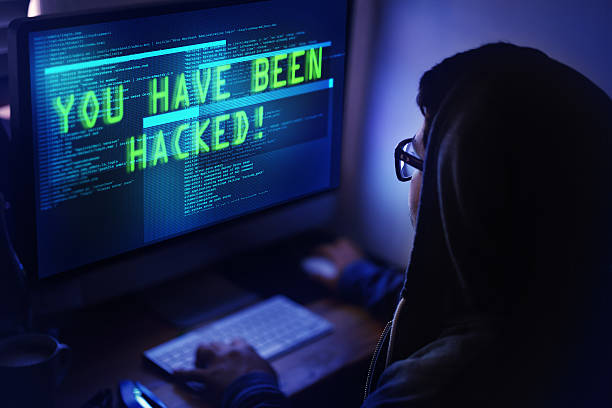 you've been hacked! - hacker stock photos and pictures