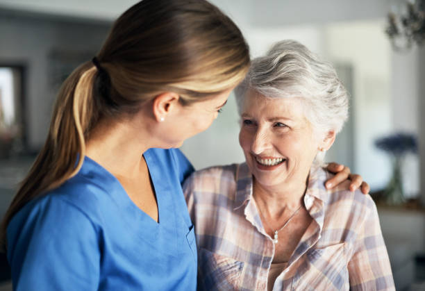 you've got a friend in me - elderly patients stock photos and pictures