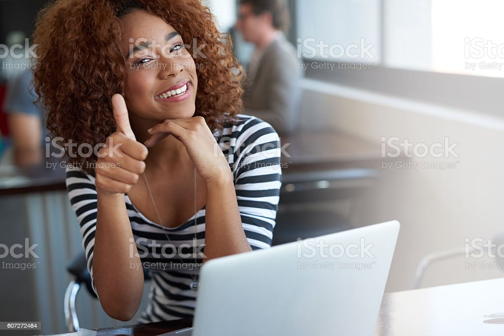 You've got her seal of approval! stock photo