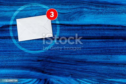 545576042 istock photo You've Got Mail Concept in Blue 1132066754