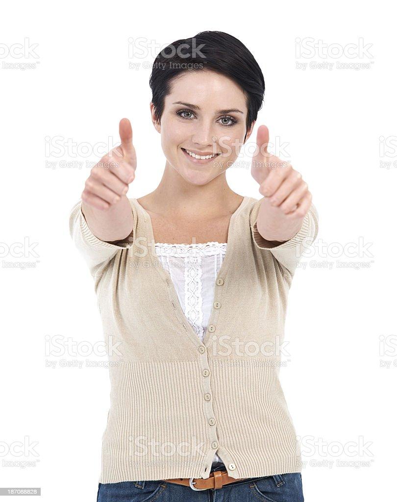 You've got my approval royalty-free stock photo