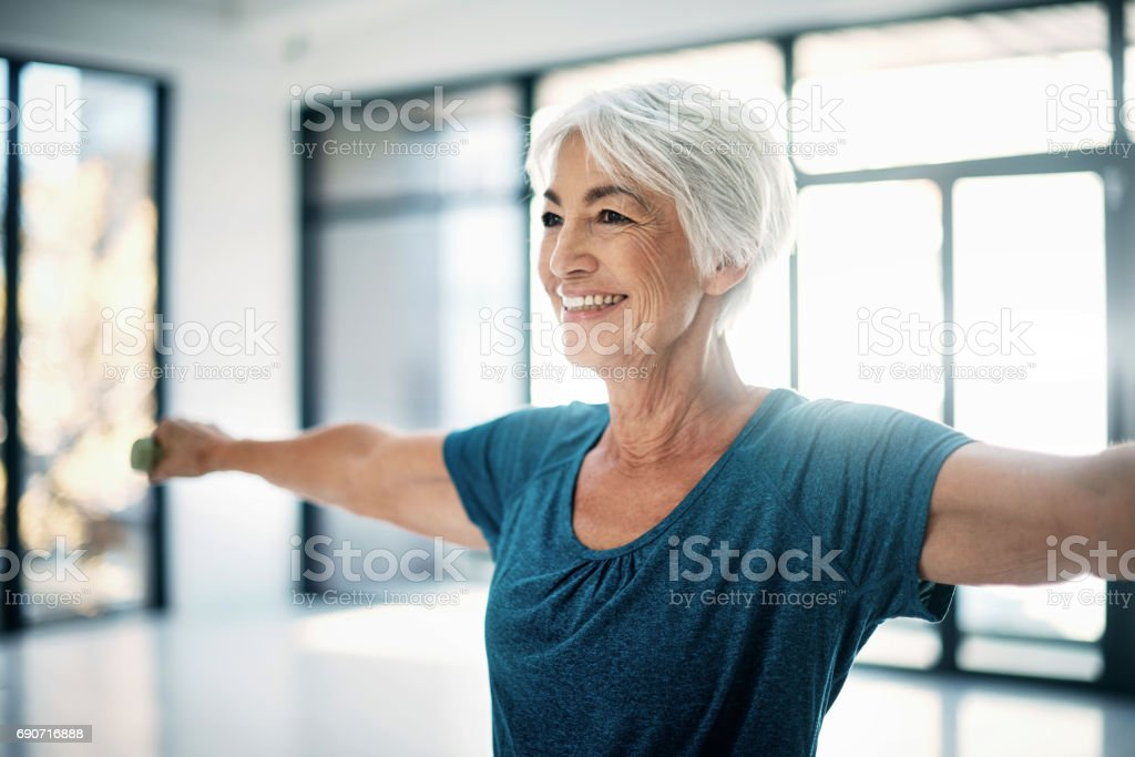 You've got to work those muscles stock photo