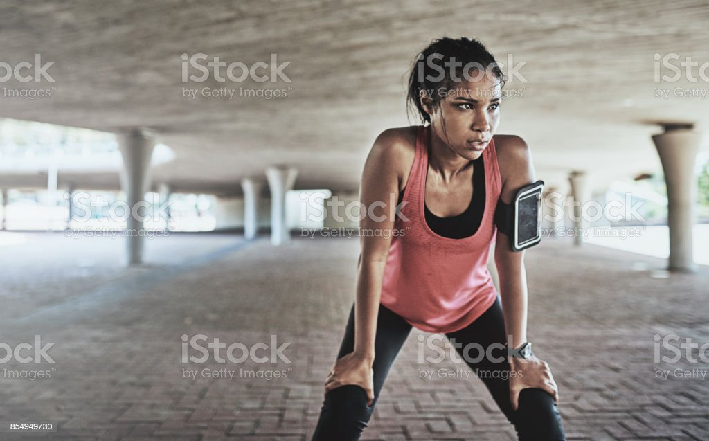 You've gotta sweat for it stock photo