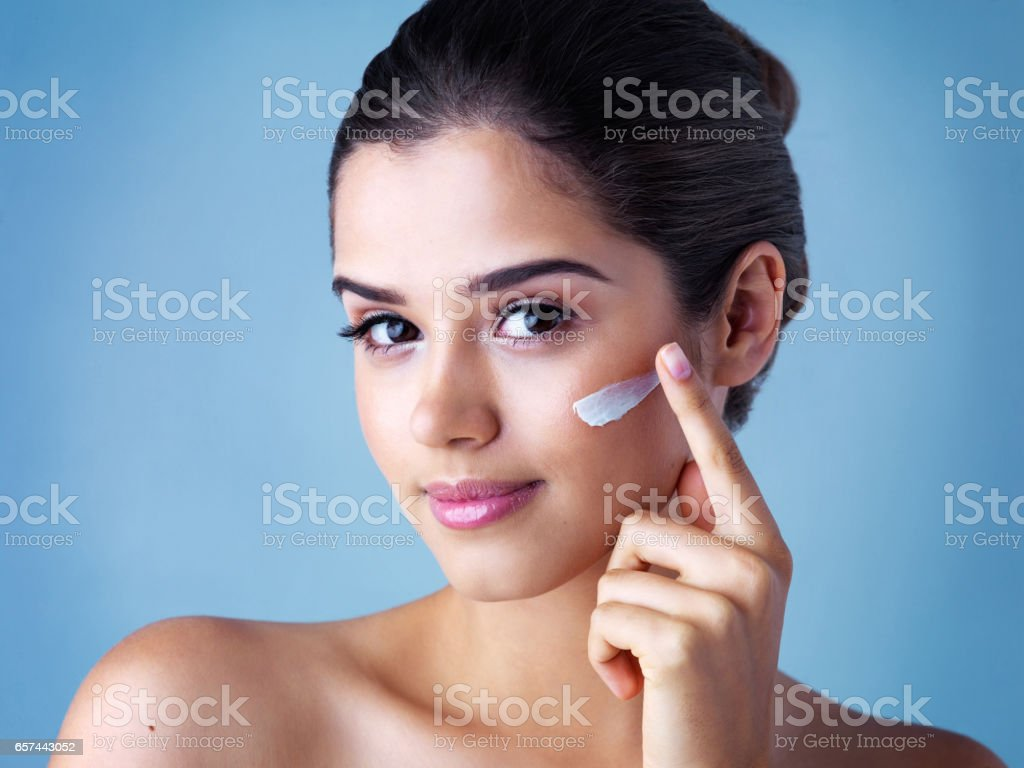 You've gotta take care of your skin stock photo