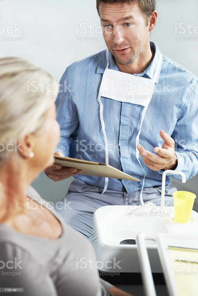 You've taken very good care of your teeth royalty-free stock photo