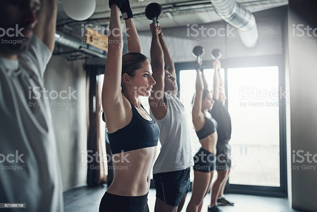 You've the ability to push your body to the max foto stock royalty-free