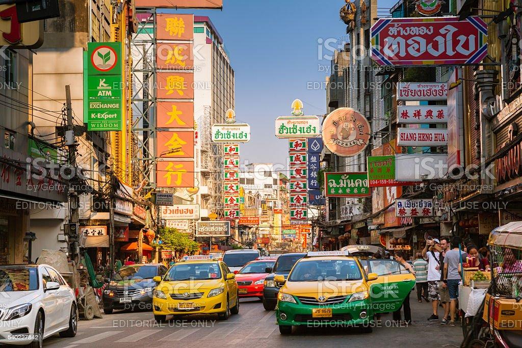 Yowarat road, Chinatown, Bangkok stock photo