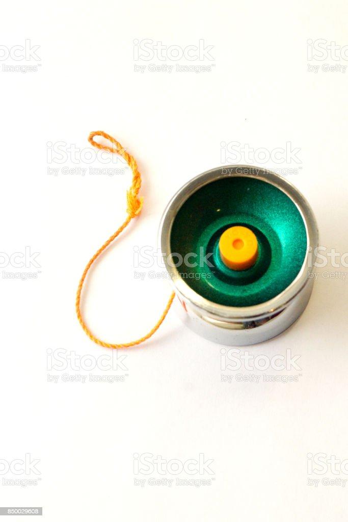 yo-yo toy on white background stock photo
