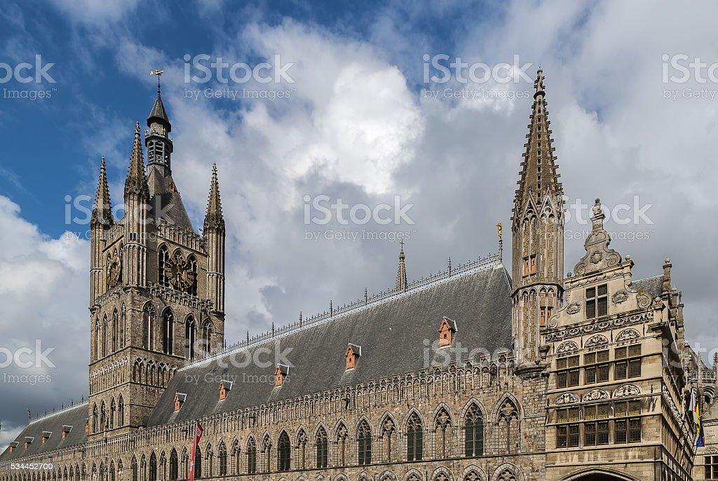 Ypres Cloth Hall, Belgium stock photo