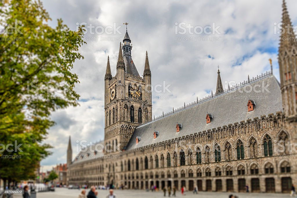 Ypres/Ieper - Cloth Hall, Belgium stock photo