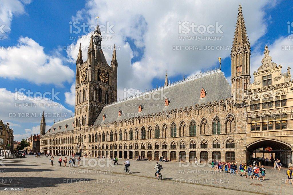 Ypres/Ieper - Grote Markt, Belgium stock photo