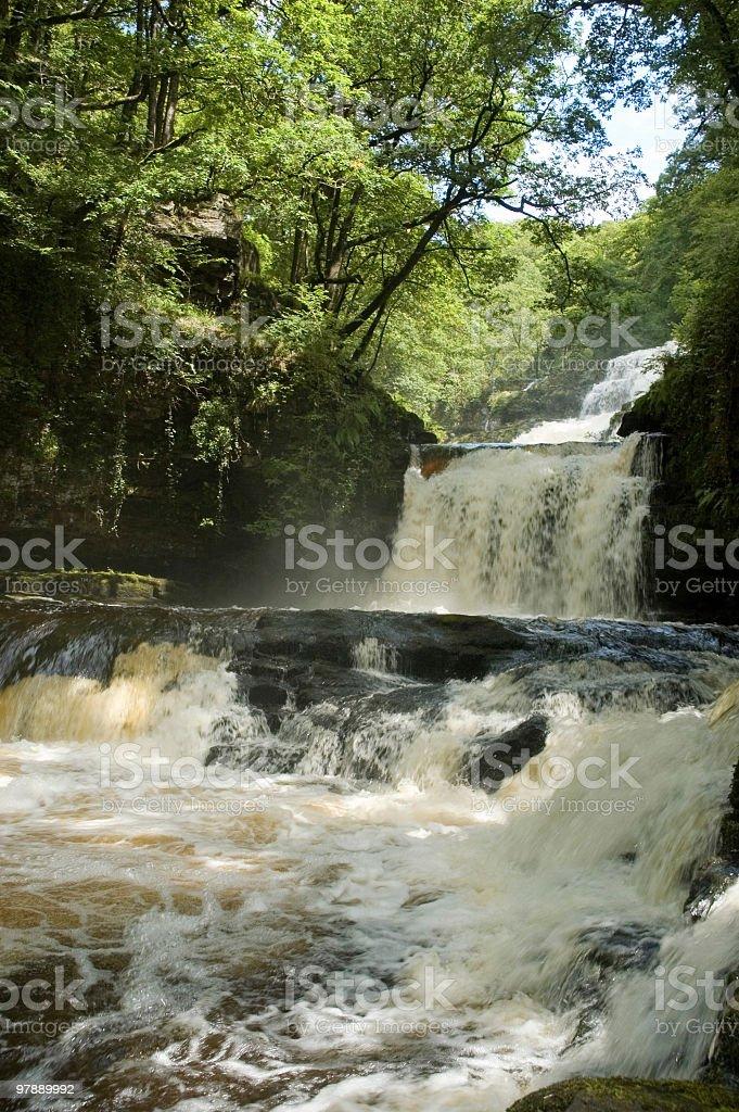 Ystradfellte Waterfalls royalty-free stock photo